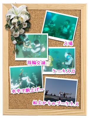 水中結婚式の風景写真