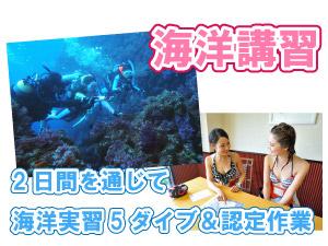 【海洋学習】2日間を通じて海洋実習5ダイブ&認定作業