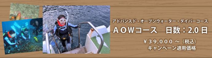 AOWコース(アドバンスド・オープンウォーター・ダイバーコース)
