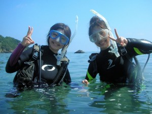体験ダイビングの写真2