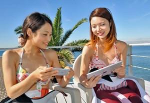 スマートフォン、タブレットでどこでも学習
